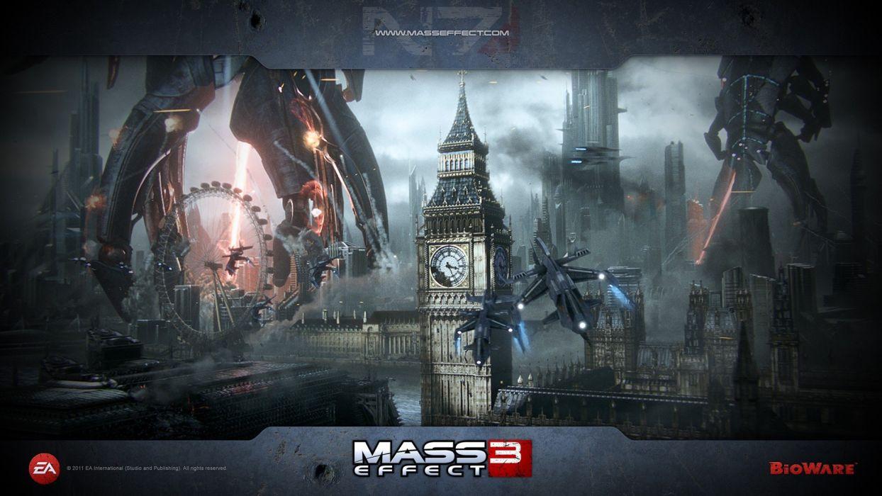 reaper London Mass Effect 3 wallpaper
