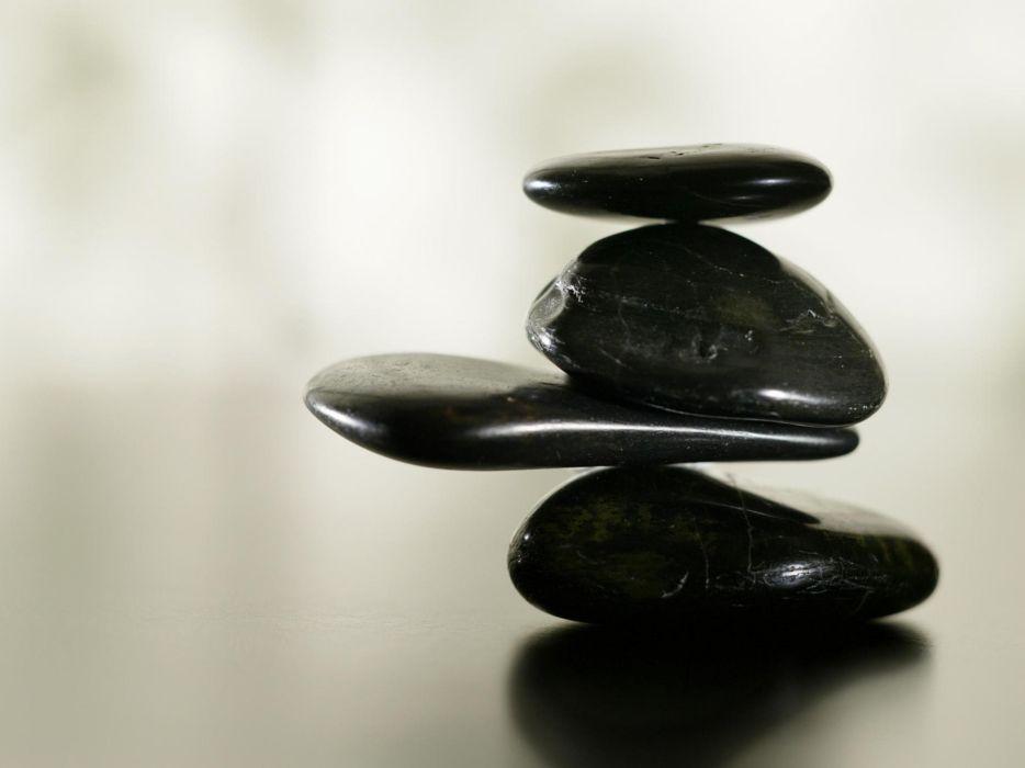 nature black stones balance wallpaper