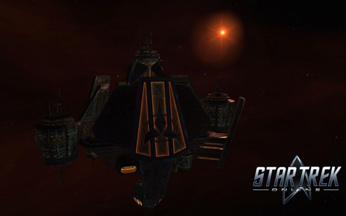 Star Trek Online Klingons science fiction starbase wallpaper