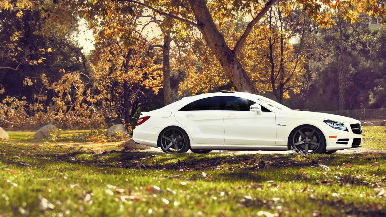 nature cars vehicles white cars Mercedes-Benz CLS Mercedes Benz CLS 63 AMG wallpaper