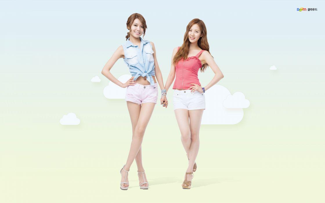 women Girls Generation SNSD Seohyun singers Choi Sooyoung wallpaper