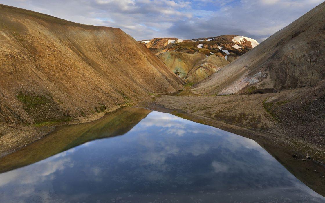 water landscapes Iceland wallpaper