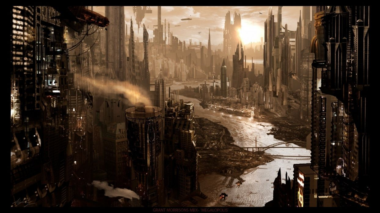 Fantasy Ruins Futuristic Fantasy Art Digital Art Science