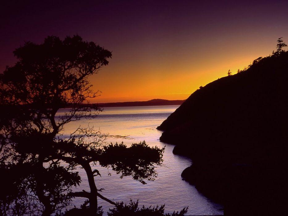 sunset lakes wallpaper