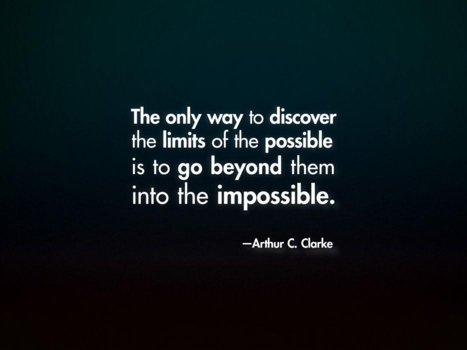 quotes Arthur C_ Clarke wallpaper