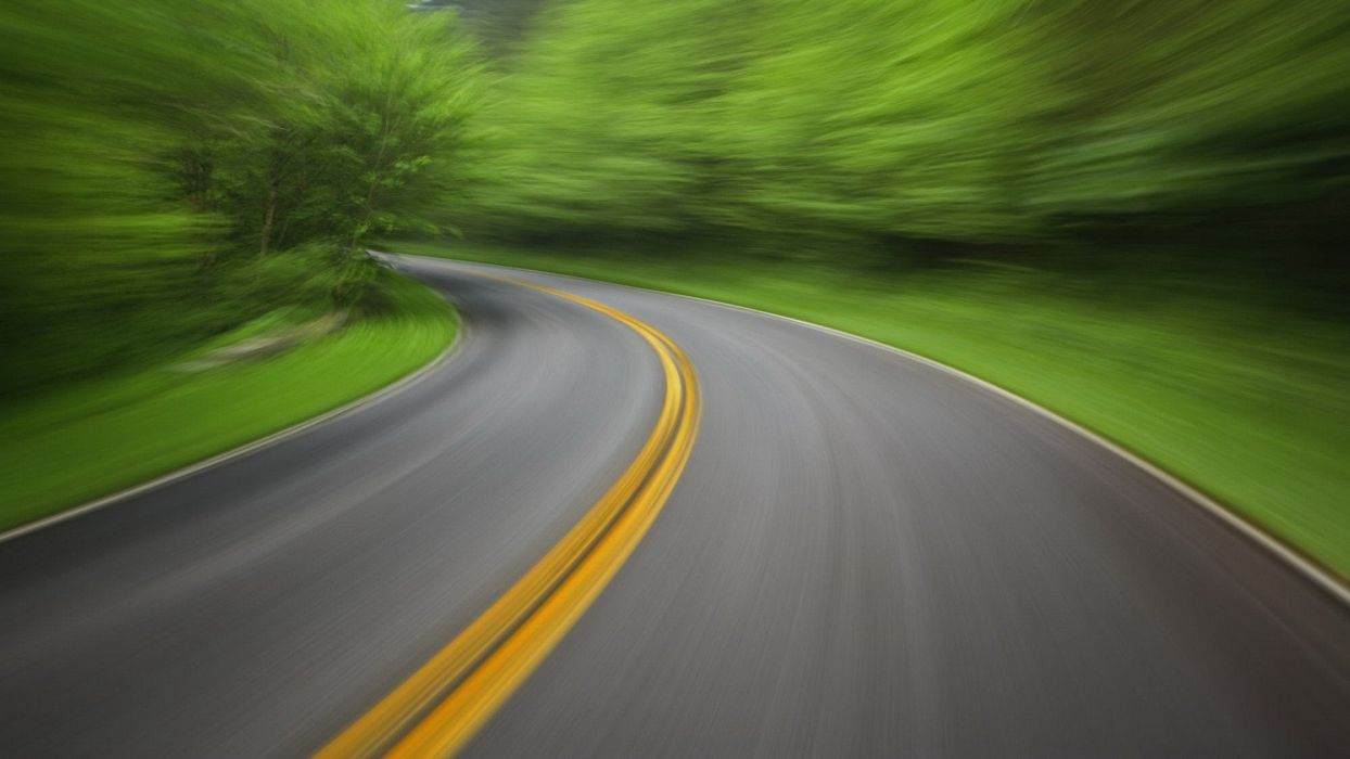 mountains journey roads Tennessee Motion National Park wallpaper