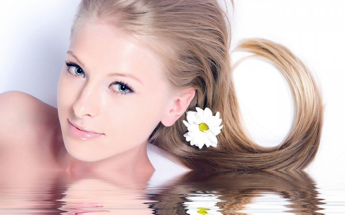 women water white spirit spa faces wallpaper