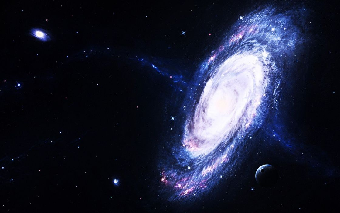 light outer space stars galaxies planets DeviantART edited wallpaper
