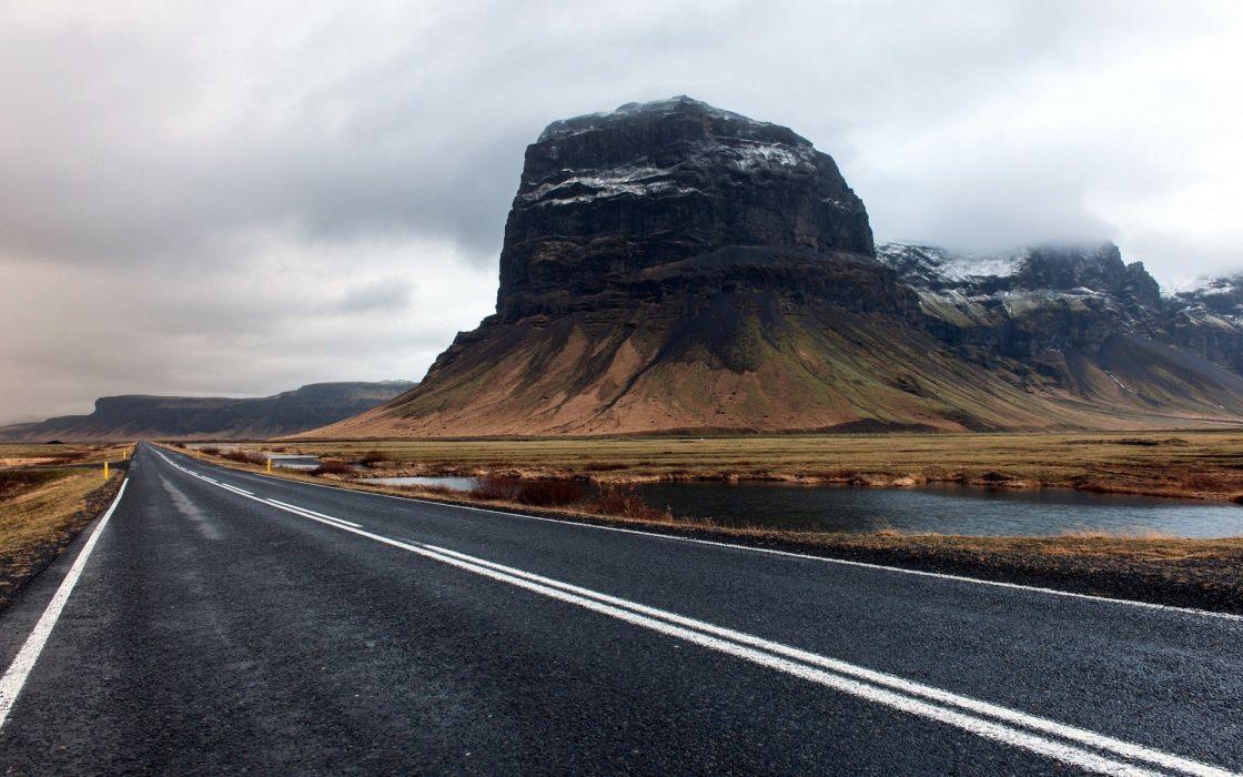 mountains landscapes roads wallpaper
