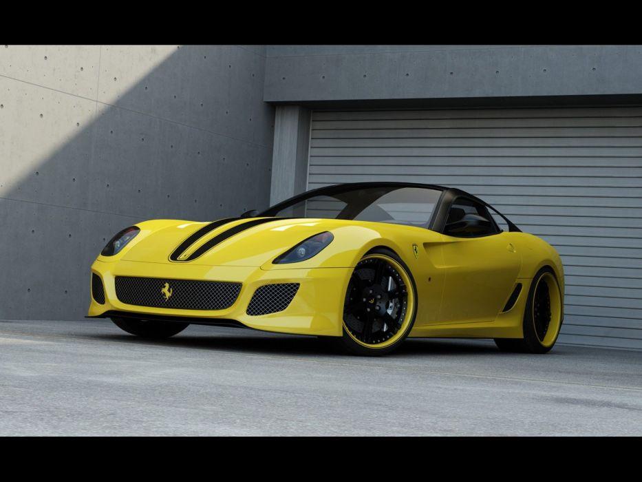 cars vehicles Ferrari 599 Ferrari 599 GTO yellow cars wallpaper