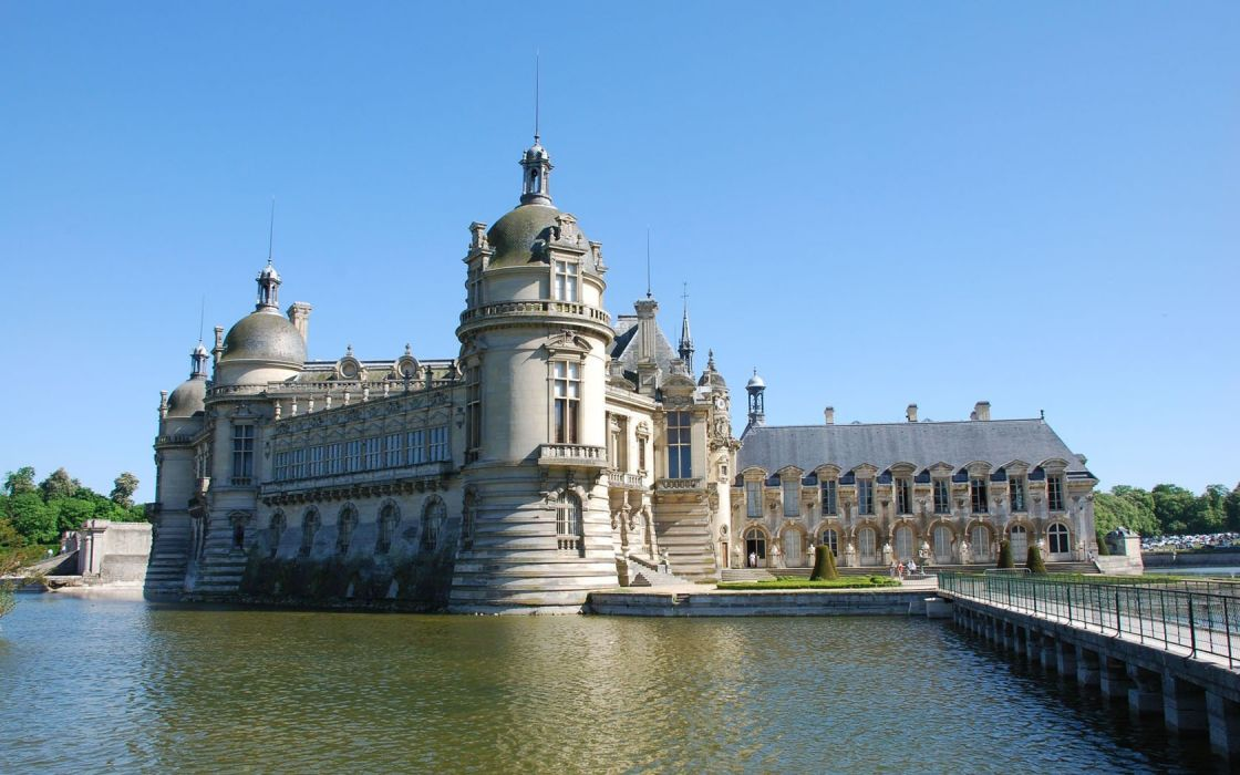 architecture buildings Chantilly wallpaper