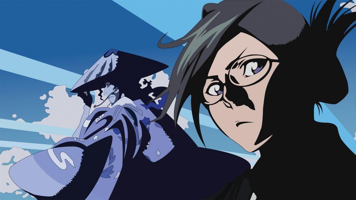 Bleach vectors meganekko anime Shunsui Kyoraku girls with glasses Nanao Ise wallpaper