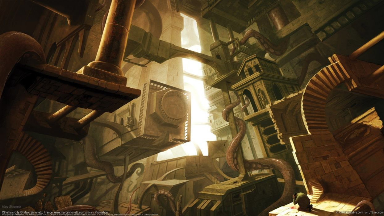 Hp Lovecraft Art Wallpapers: Fantasy Art HP Lovecraft Marc Dimension Wallpaper