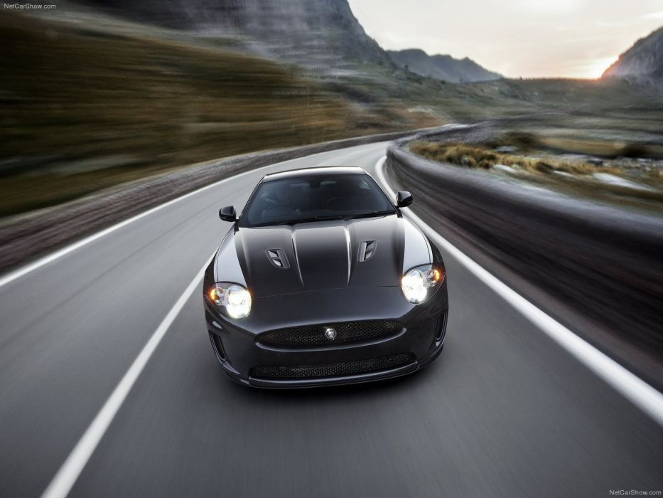 black cars Jaguar XKR wallpaper