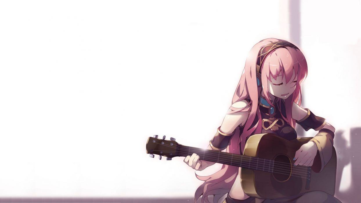 Vocaloid Megurine Luka anime anime girls detached sleeves wallpaper