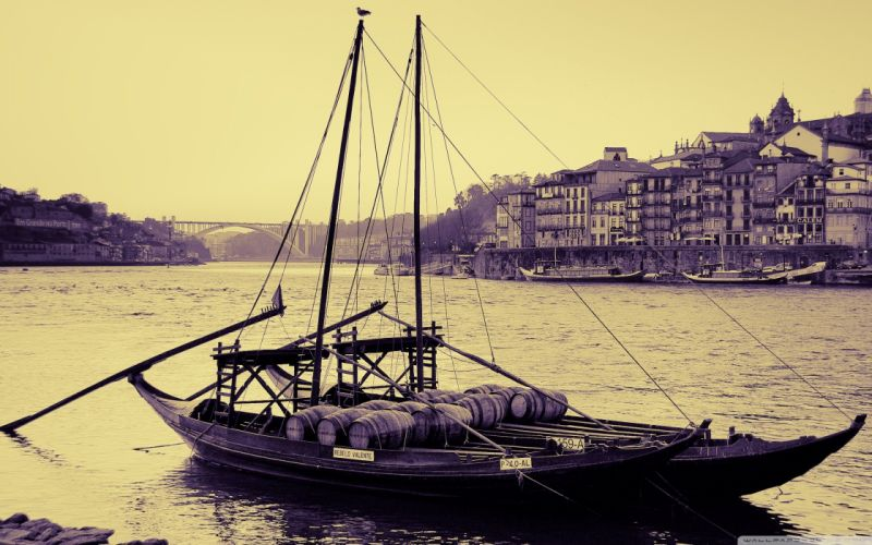 ships Portugal rivers wallpaper
