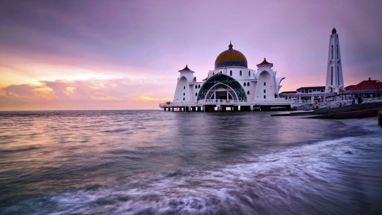 sea mosques wallpaper