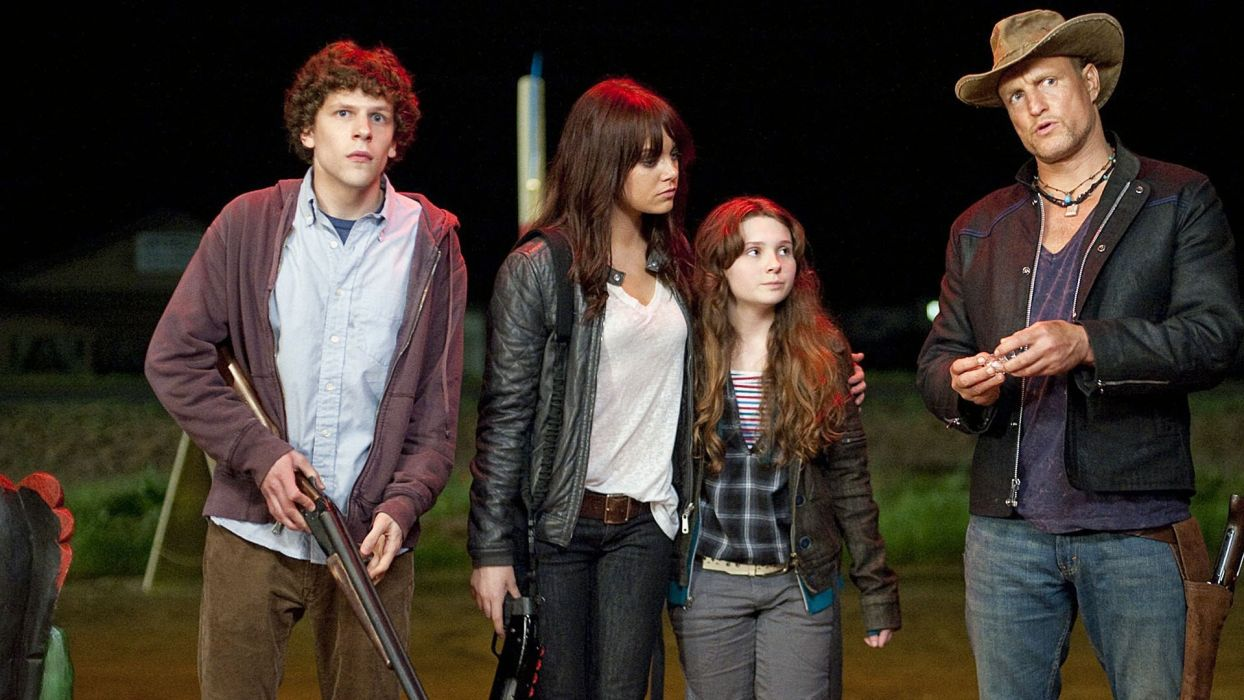 ZOMBIELAND comedy horror dark action  r wallpaper