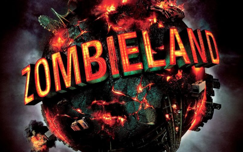 ZOMBIELAND comedy horror dark action poster g wallpaper