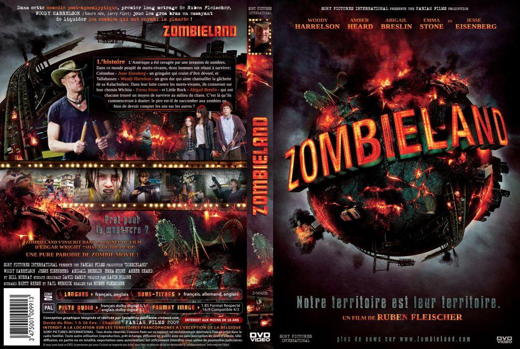 ZOMBIELAND comedy horror dark action poster     f wallpaper