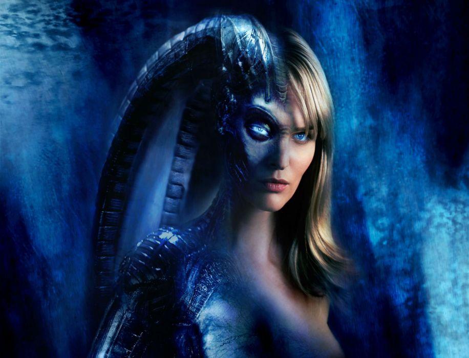SPECIES action horror sci-Fi dark alien sexy babe blonde  rg wallpaper