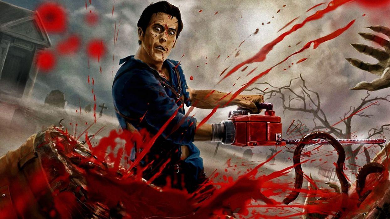 EVIL DEAD horror dark blood zombie   h wallpaper