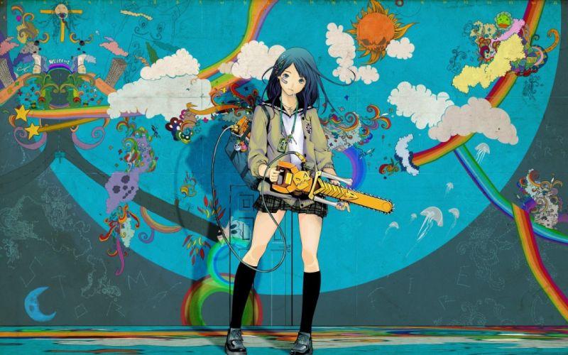artwork anime original characters wallpaper