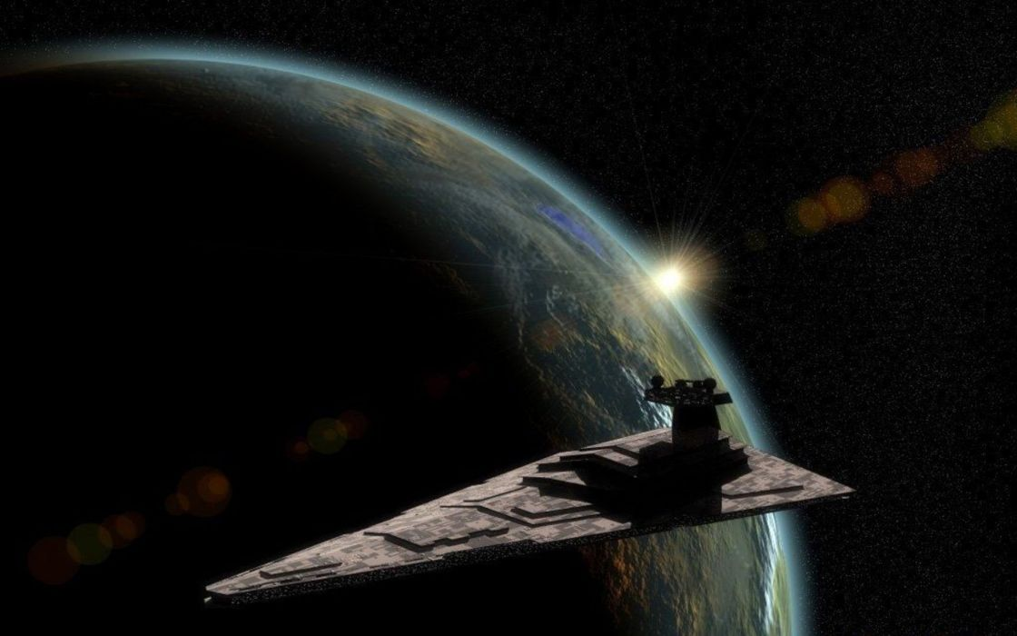 Star Wars outer space stars planets artwork Star Destroyer wallpaper