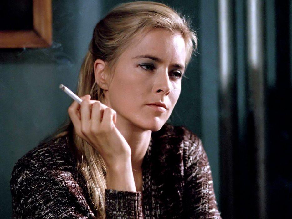 blondes smoking cigarettes Tea Leoni upside down faces wallpaper