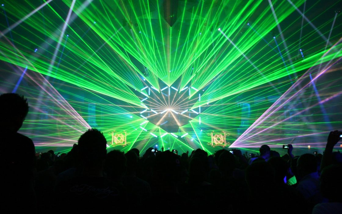 light techno rave lasers wallpaper