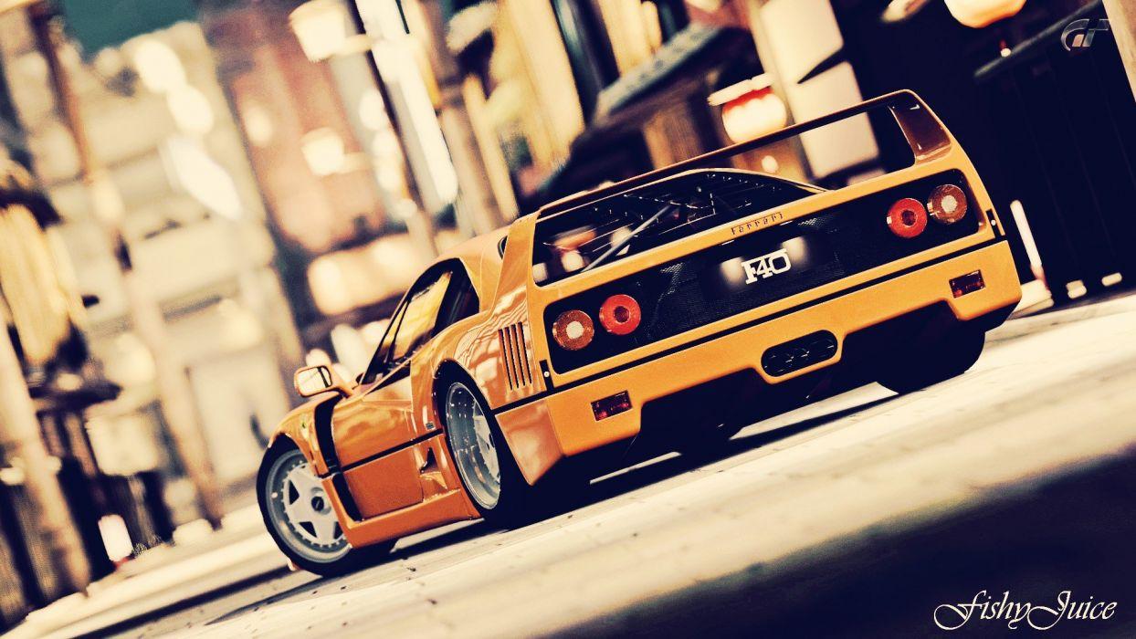 video games cars Ferrari Gran Turismo 5 races Playstation 3 f40 wallpaper