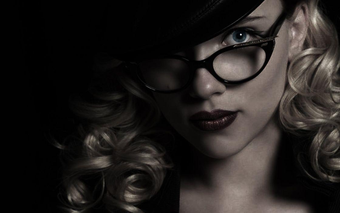 women Scarlett Johansson actress glasses The Spirit girls with glasses wallpaper