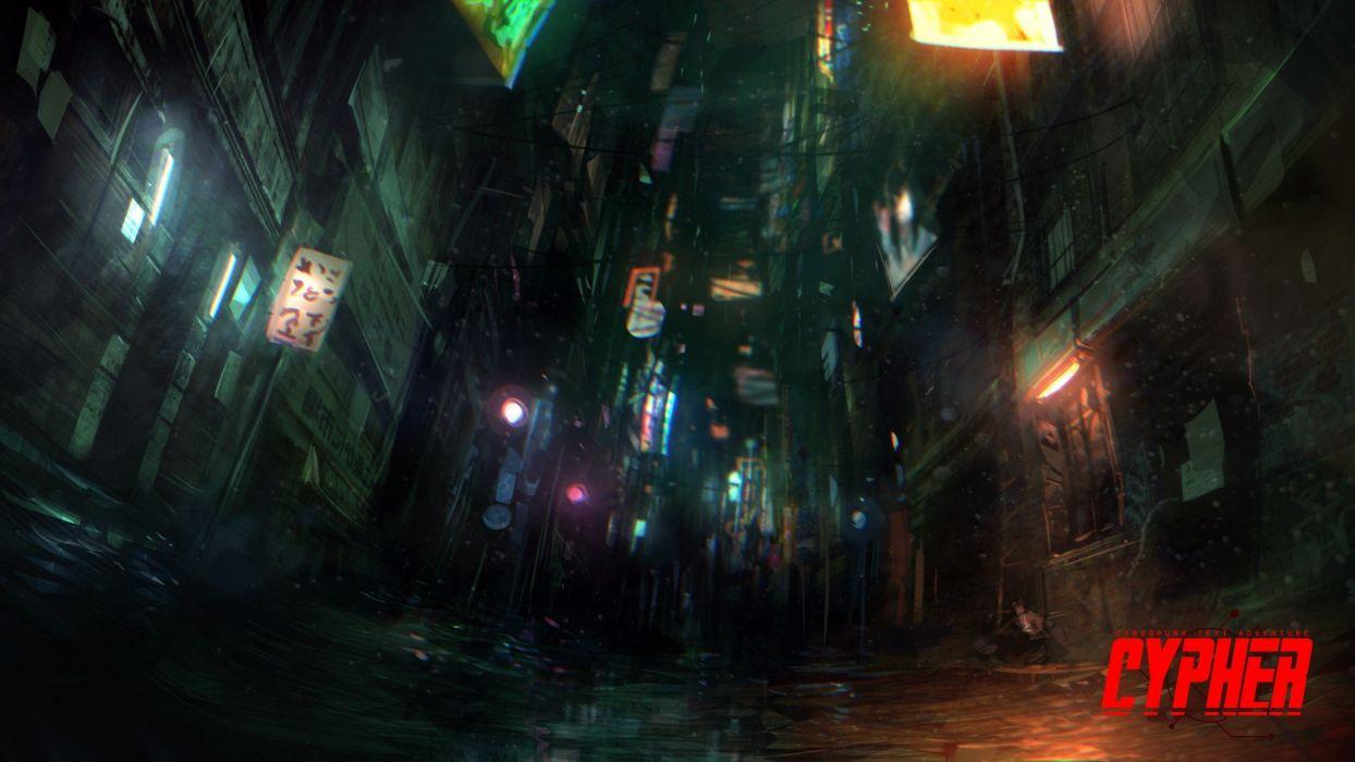 video games cyberpunk CYPHER: Cyberpunk Text Adventure wallpaper
