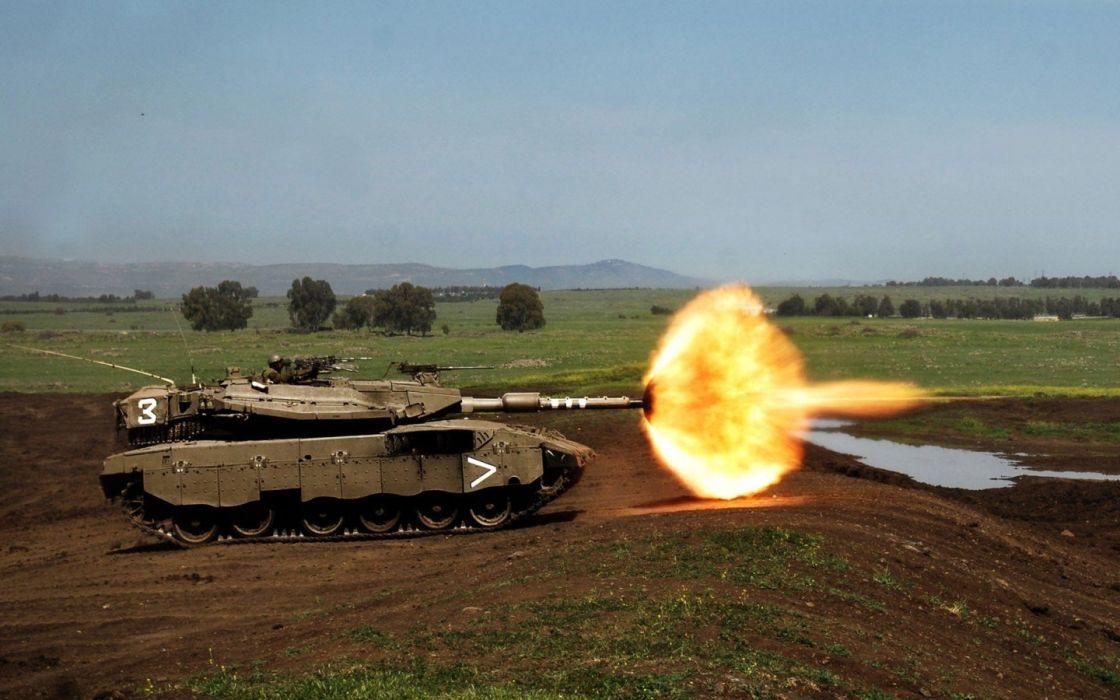 military merkava tanks wallpaper