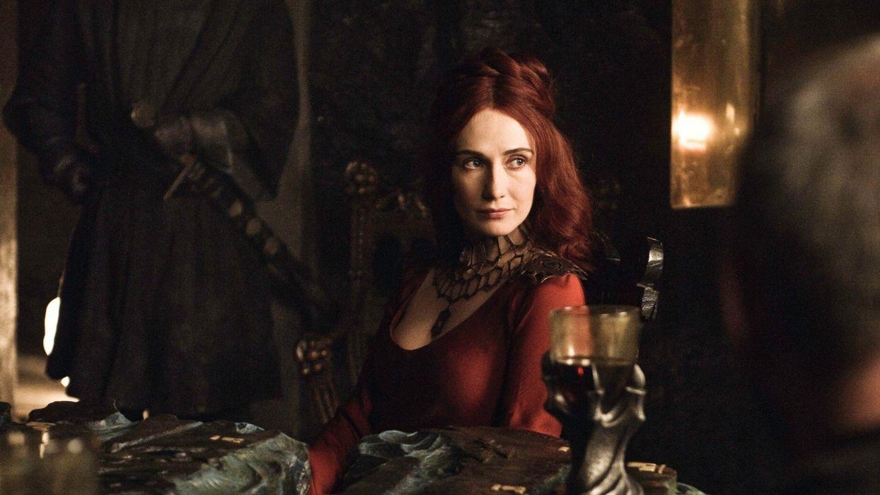 women actress Game of Thrones TV series red hat  Carice van Houten HBO Melisandre of Asshai wallpaper