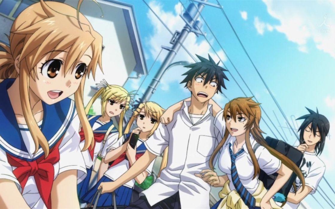 school uniforms Nyan Koi Mizuno Kaede Kousaka Junpei Sumiyoshi Kanako Kirishima Akari Kirishima Kotone Ichinose Nagi wallpaper
