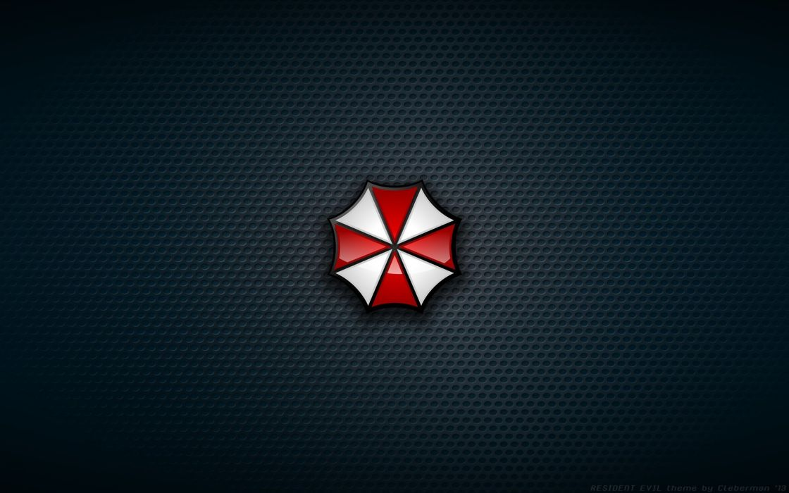 Resident Evil grid Umbrella Corp_ logos wallpaper