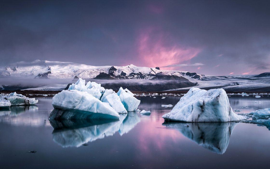 ice landscapes nature wallpaper