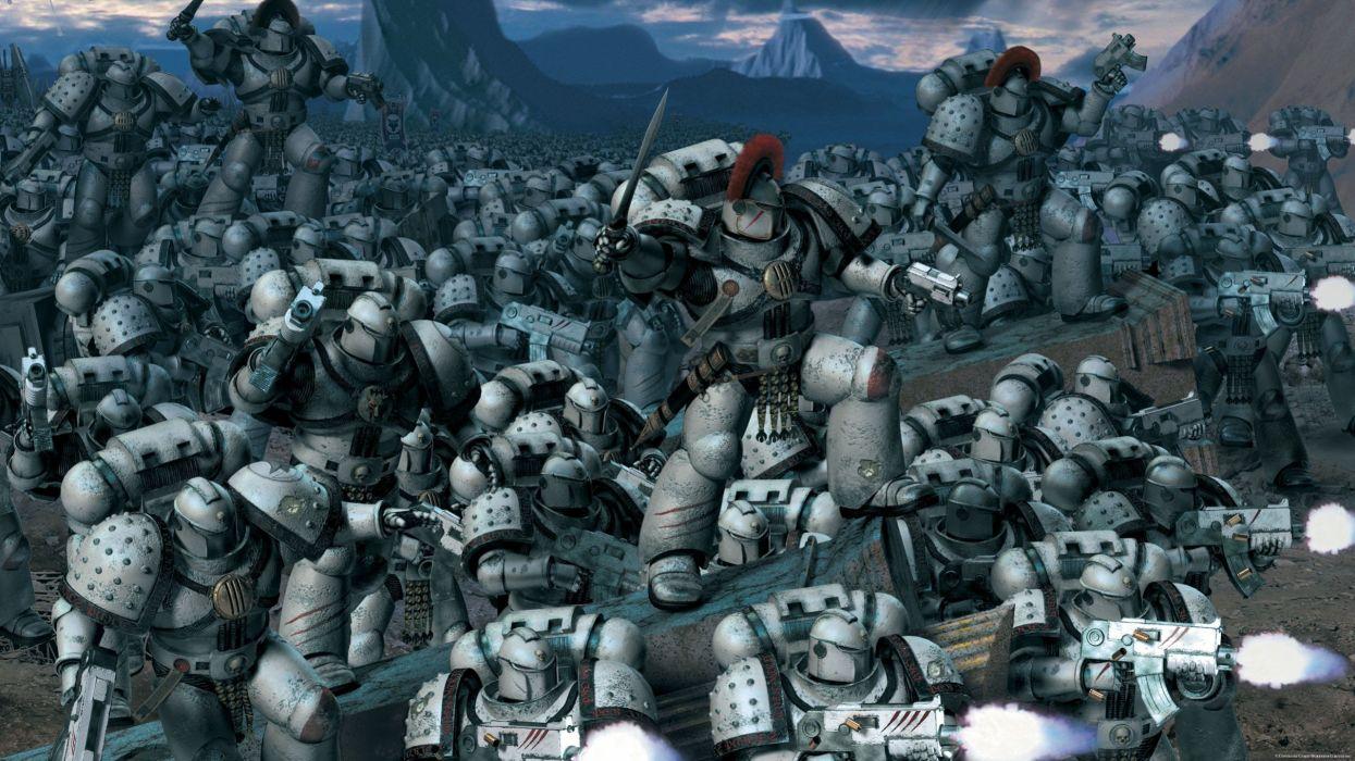 space marines false science fiction gods wallpaper