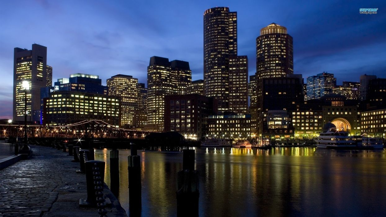 cityscapes Boston wallpaper