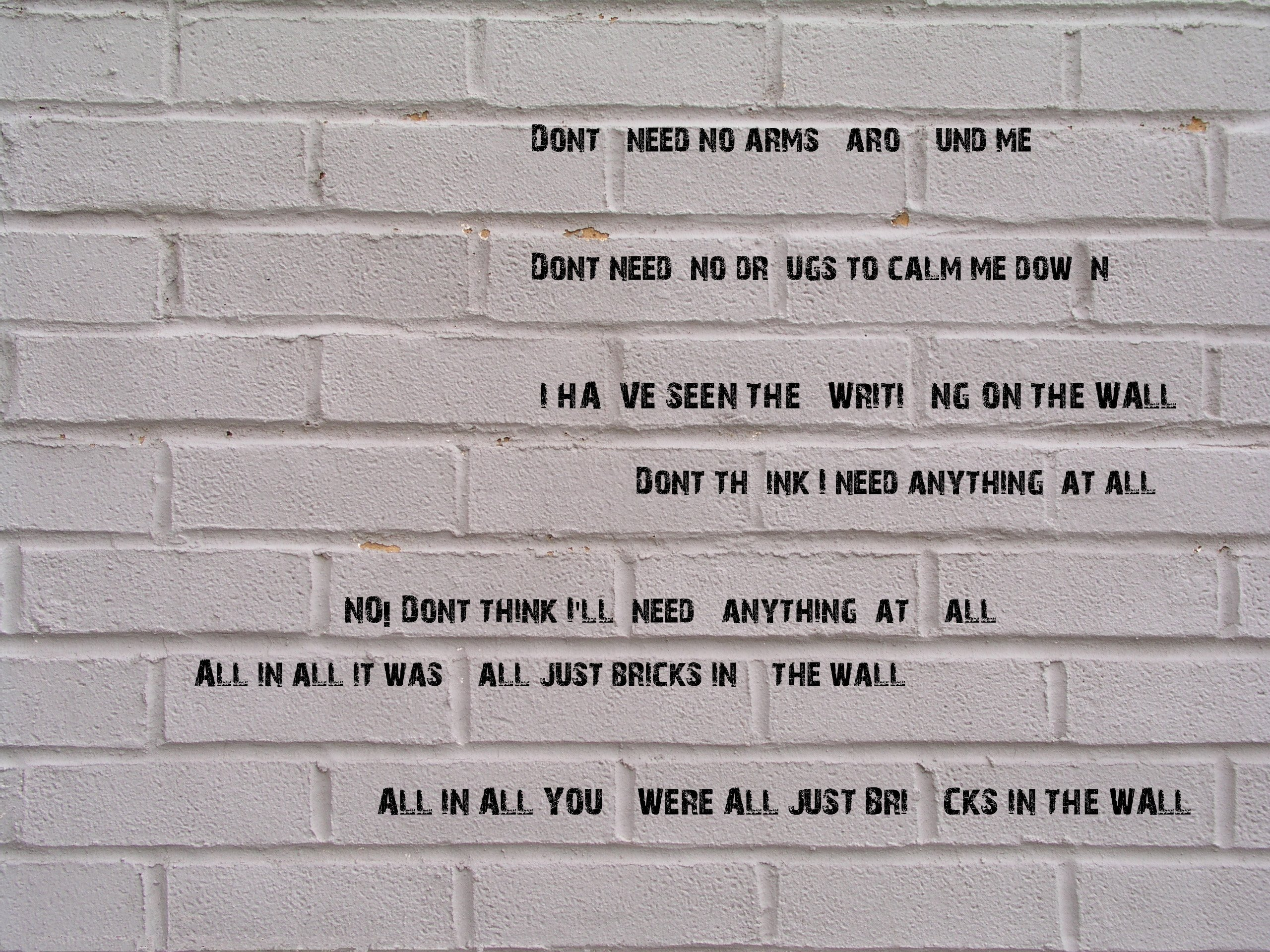 Pink Floyd The Wall Roger Waters Wallpaper 2560x1920 236315 Wallpaperup