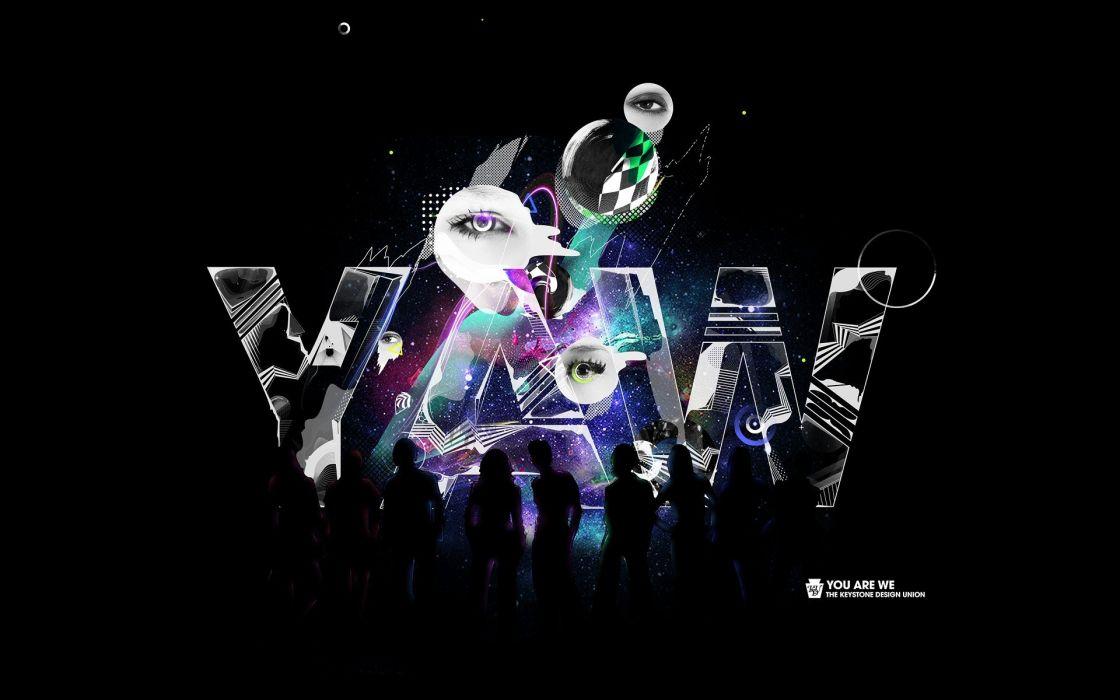 abstract design typography digital art artwork Bram Vanhaeren wallpaper