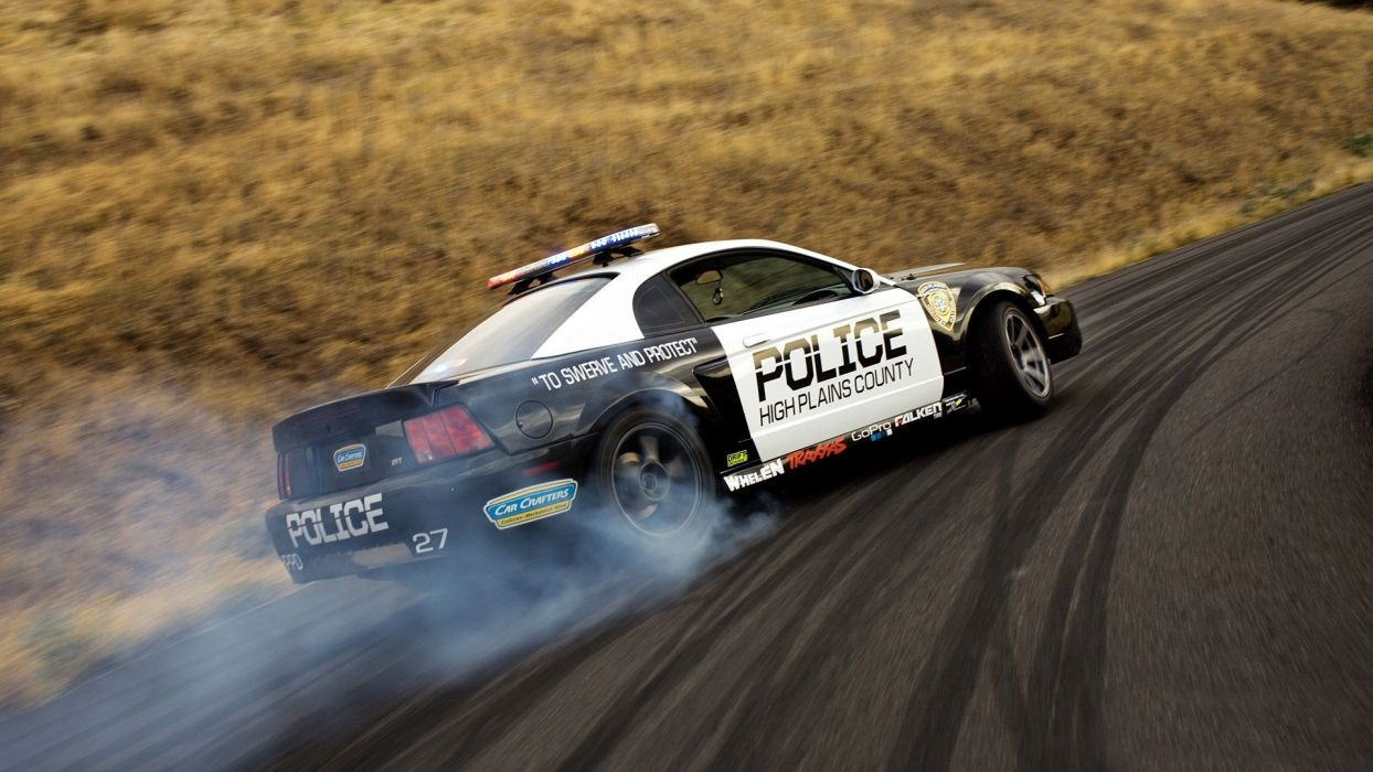 Cars Drifting Cars Ford Mustang Police Cars Widescreen Wallpaper