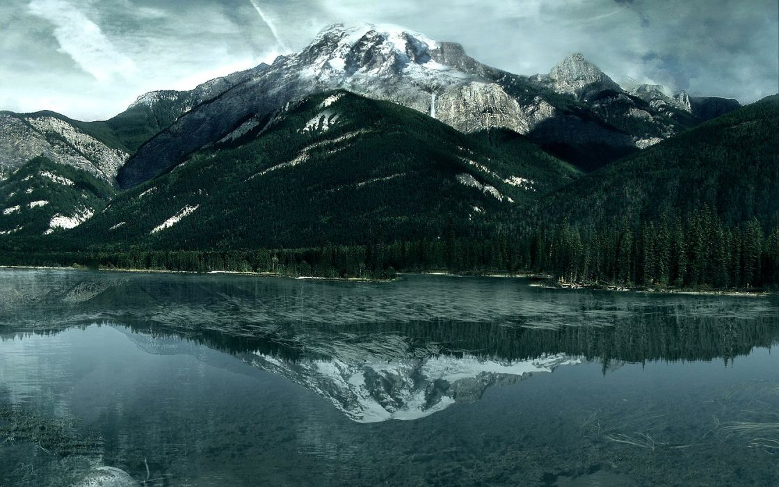mountains landscapes lakes reflections wallpaper