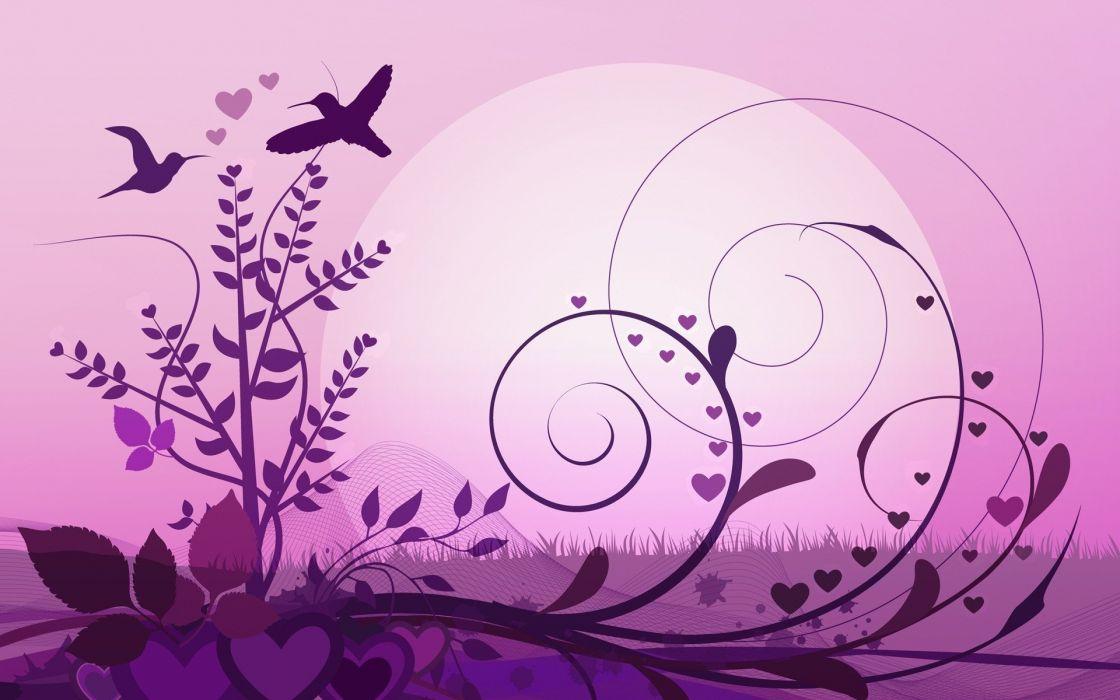 abstract pink grass vectors floral wallpaper