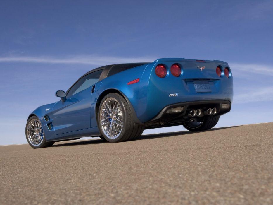 blue Chevrolet Corvette Chevrolet Corvette ZR1 wallpaper