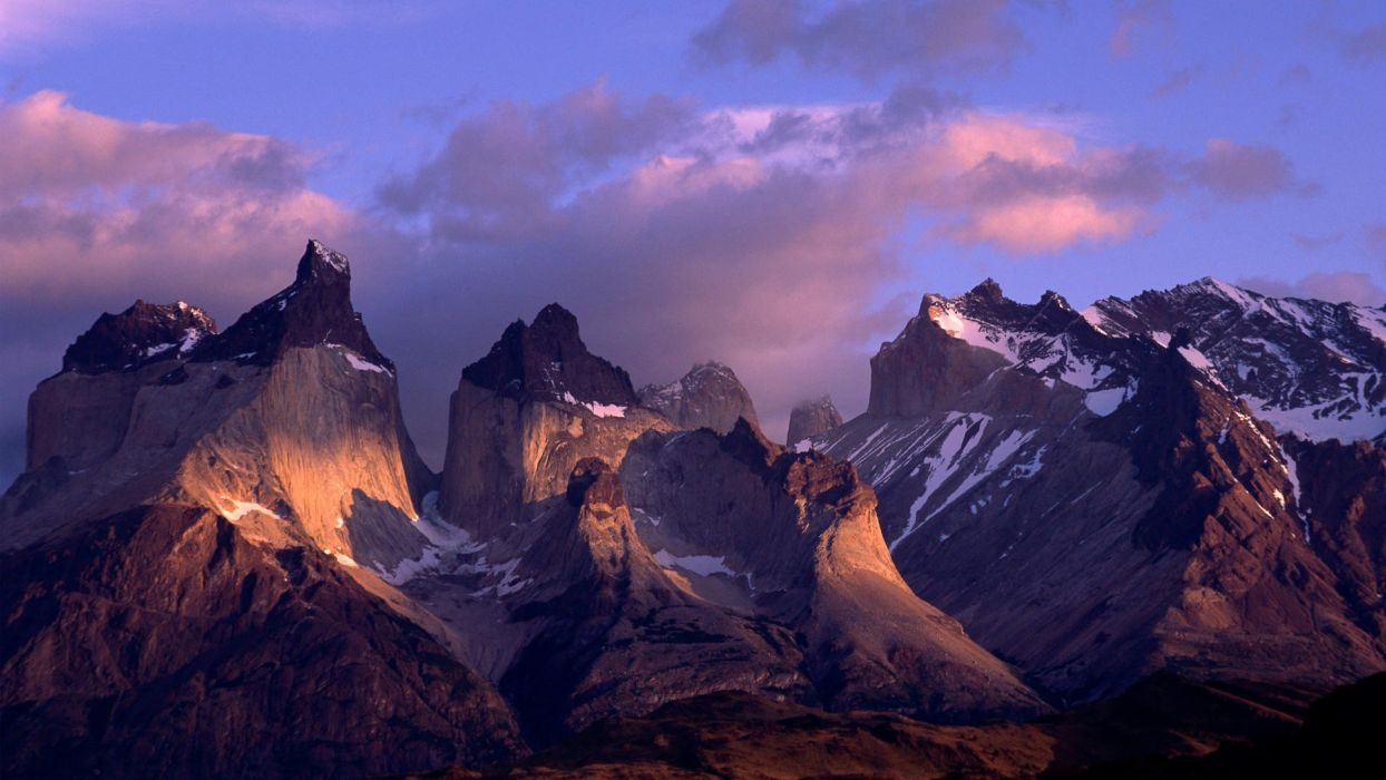 Chile mountains Paine Andes wallpaper