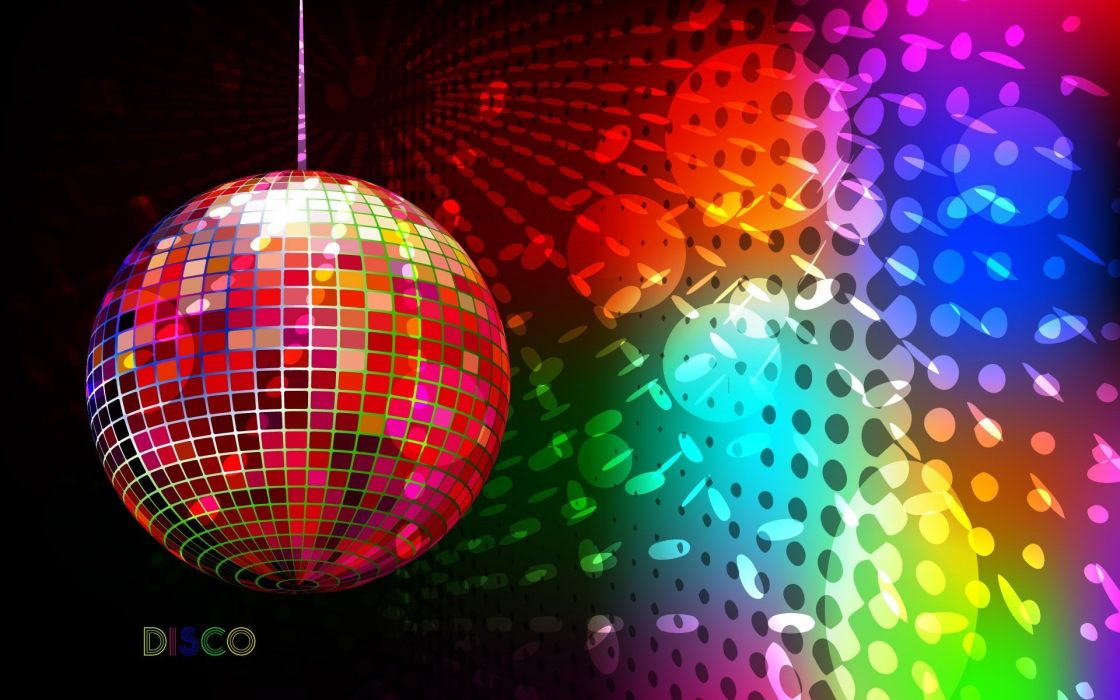 music lights circles Disco colors wallpaper