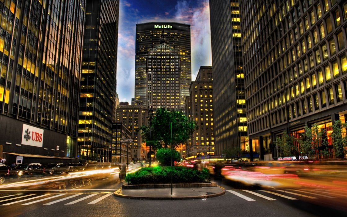 cityscapes streets cars buildings plants long exposure wallpaper