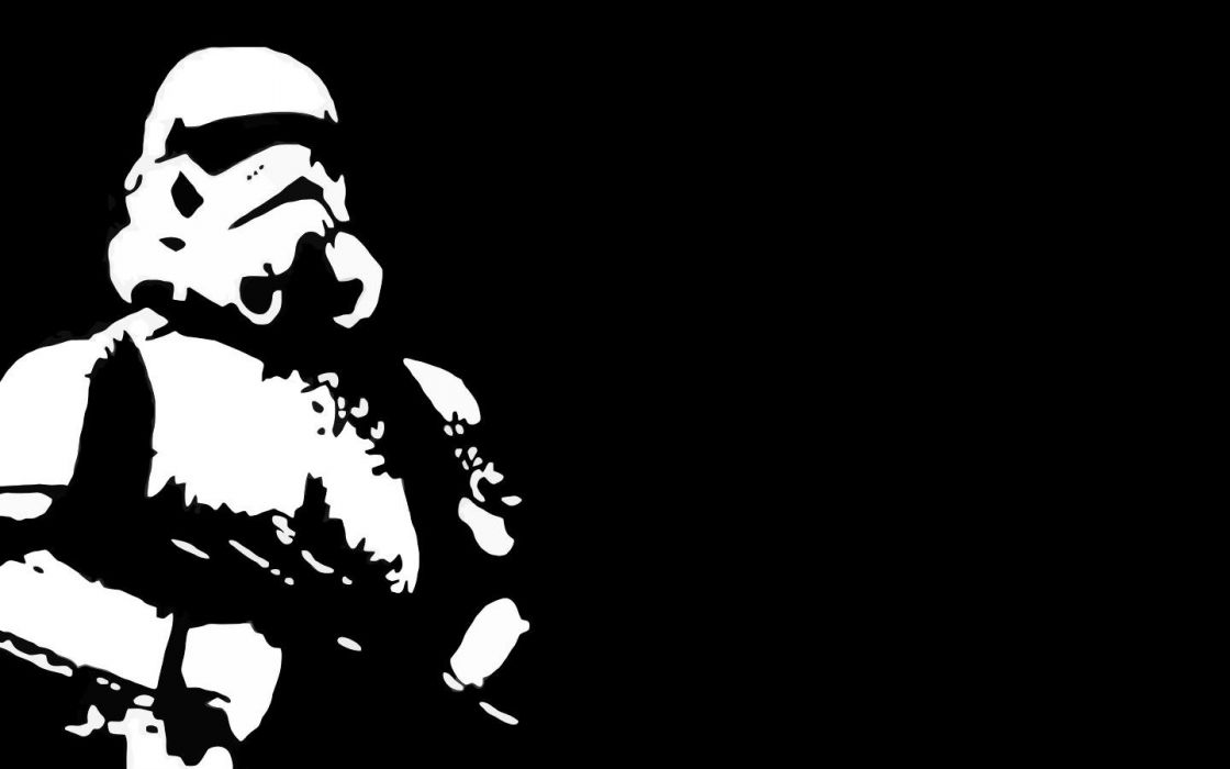 Star Wars stormtroopers black background wallpaper
